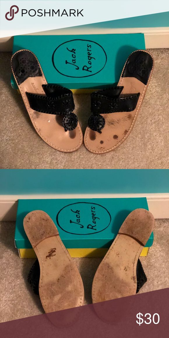 Black Palm Beach Flats Black & patent jacks, that still have a lot of life to live! Jack Rogers Shoes Sandals