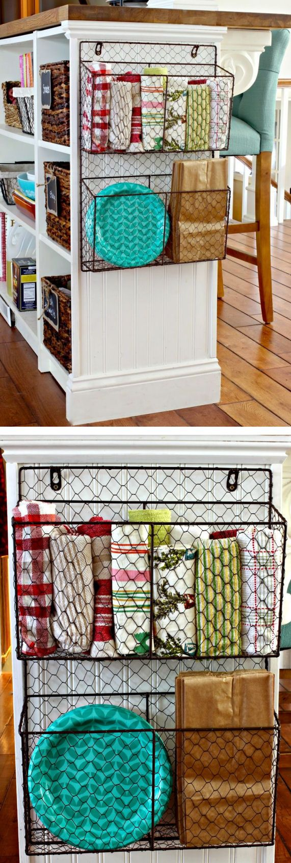 Hanging Wire Basket For Kitchen Storage