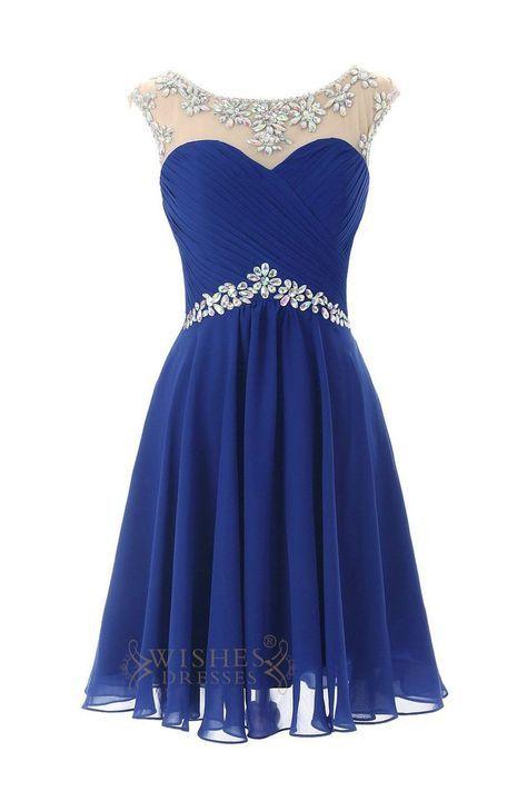Sexy Royal blue Chiffon Short Cocktail Dress / Prom Dress/ Homecoming Dress…