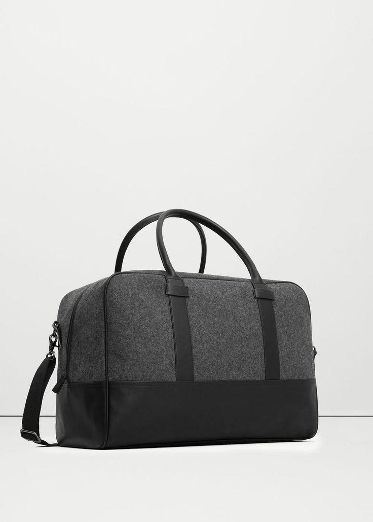 Wool felt weekend bag -  Men | MANGO Man USA