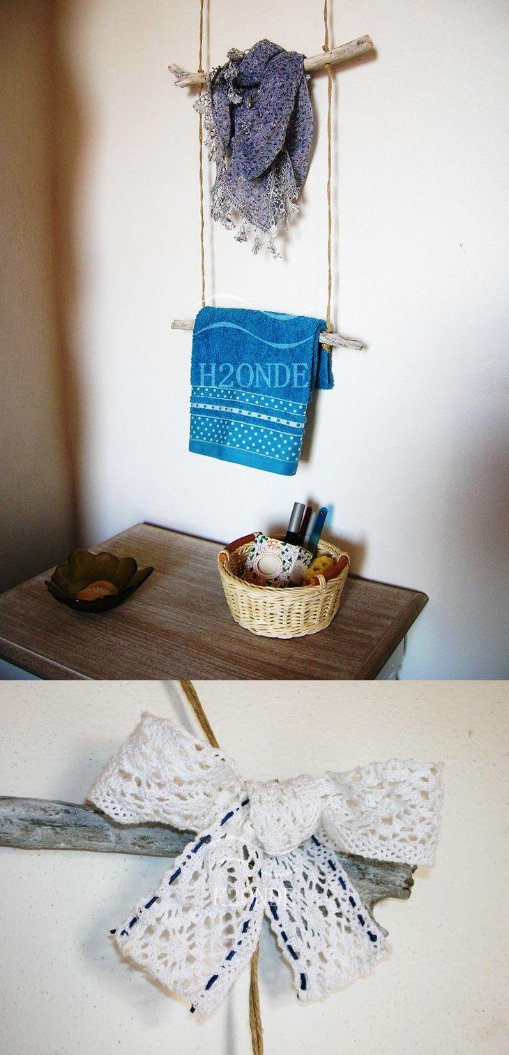 Wall mount towel rack,driftwood,wood ladder towel rack,bathroom decor,towel…