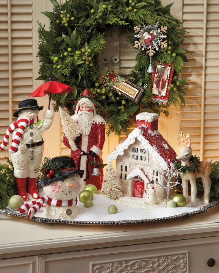 Christmas Decorations For Victorian Homes: 253 Best Images About Christmas Vignettes On Pinterest