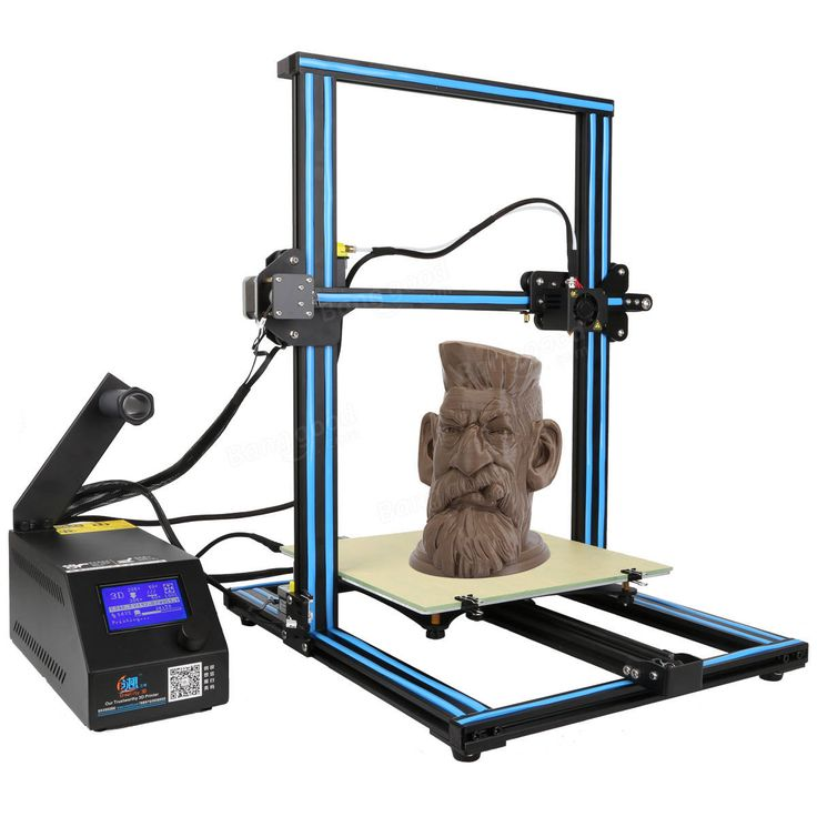 Creality 3D® CR-10 Blue DIY 3D Printer Kit 300*300*400mm Printing Size 1.75mm 0.4mm Nozzle Sale - Banggood.com