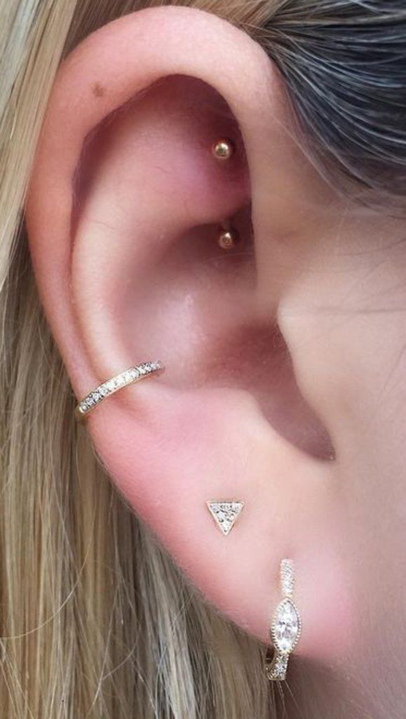 Simple Rook Jewelry Cute Ear Piercing Ideas For Women S Curved Barbell Simples De La Torre Mybodiart