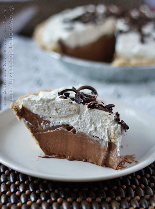 Homemade Baker's Square French Silk Pie from Amanda's Cookin @amandaformaro
