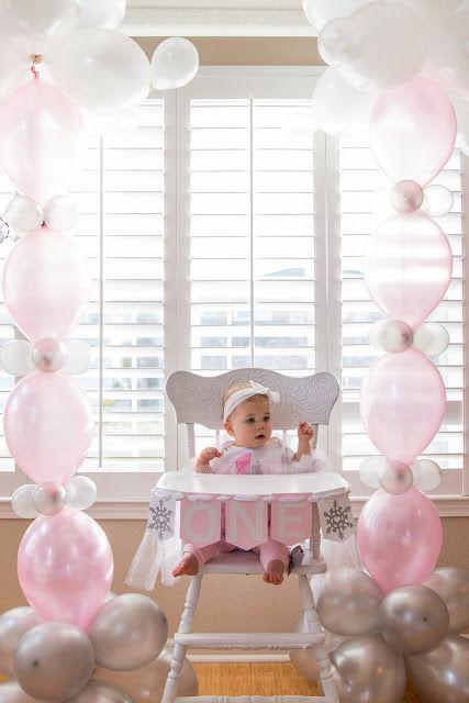 Odessa Turns 1 in a Winter ONE-derland! First Birthday Party, Winter Onederland, Pink, winter, white, 1st birthday idea, little girl