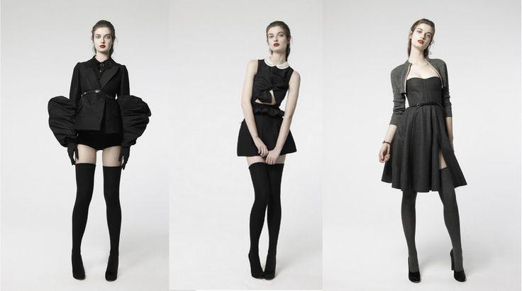 Black chic. | #FW10 | #Carven | #sleeves | #sochic | #black | #newlook