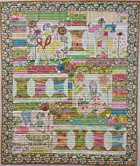 46 best Collage quilts images on Pinterest | Art studios, Birthday ... : montana quilt shops - Adamdwight.com