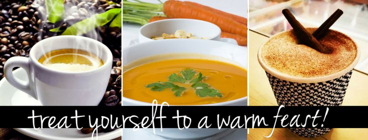 Warm up at Feast! this winter with our hot homemade soups from the Cafe and gourmet coffee drinks from the The Truck at feast!