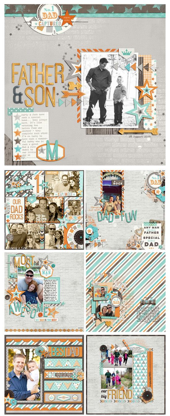 #papercraft #scrapbook #layout - Family Man – New from Zoe Pearn
