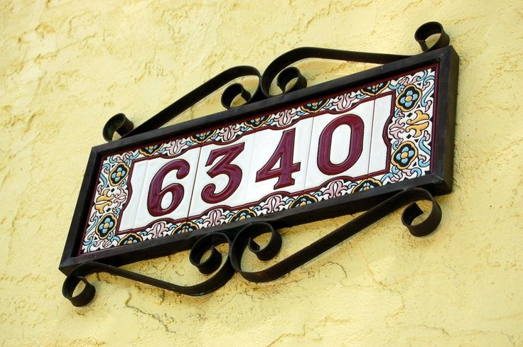 37 best spanish decor images on pinterest facades home for Spanish style house numbers