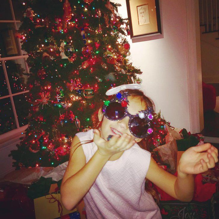 Pin for Later: See How All Your Favorite Celebrities Got in the Holiday Spirit  Salma Hayek's daughter was ready to celebrate.