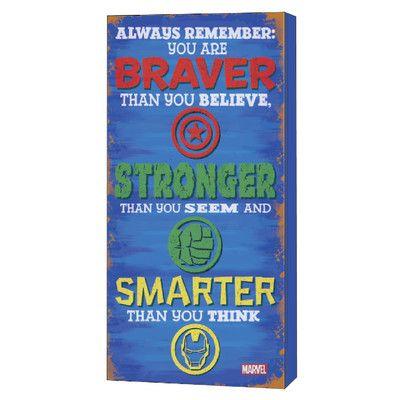 Edge Home Avengers 'Stronger' Inspirational Textual Art & Reviews | Wayfair