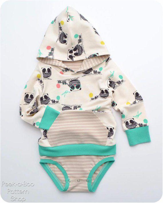 f02df99a37936 Eeny Meeny Miny Moe PDF Sewing Pattern: Baby Hoodie, Baby Dress ...