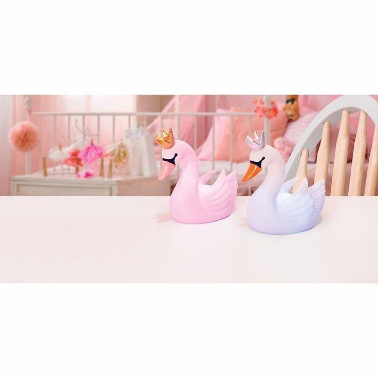 Add some magic to your little ones room with these beautiful Swan Night Lights!    #swan #cute #beautiful #baby #babygirl #nursery #kids #kidsfashion #kidsroom #love #toys #gifts #motherhood #babyshop #babygift #littlebooteekau