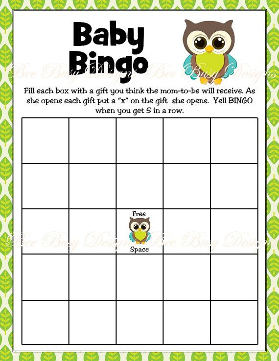 baby bingo shower ideas gift woodland babyshower baby shower bingo