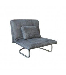 Πολυθρόνα-Κρεβάτι σε Γκρι 94x90x90 (Κρεβάτι 94x200x38)cm Kelly