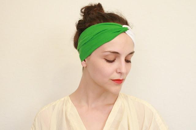 DIY: Turban Headband Tutorial, Sewing Projects,  Swimming Cap, Diy'S, Turban Headbands, Joan Collins, Turbans Headbands Tutorials, Head Band, Twitch Vintage