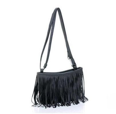 "Women's small messenger bag with tassels. This cross-body shoulder bag has flare, style and just the right amount of ""sassy"" to be versatile enough to wear on a"