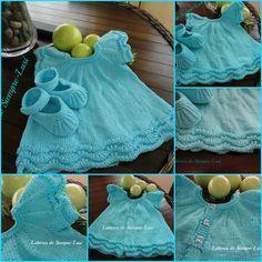 Vestido Bebé en algodón-con instrucciones para su confección.