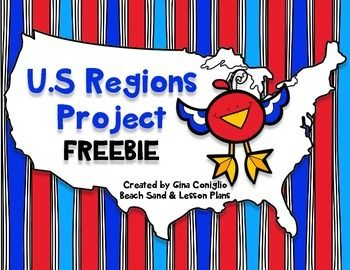 This project will give your students a chance to work cooperatively, be creative, practice research skills, and learn about the regions of the United States.Students will work in groups to research an assigned region of the U.S. then create a poster with their research.