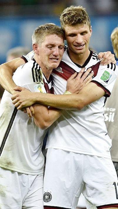 Thomas Müller & Bastian Schweinsteiger (after World Cup win)