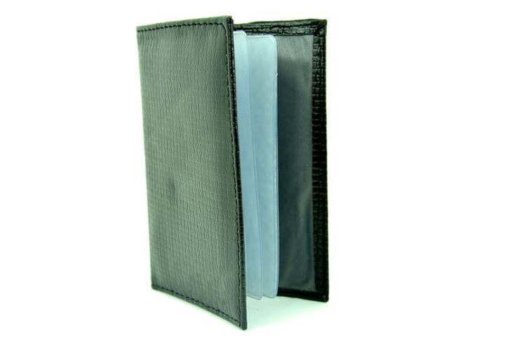 Black Colour Printed Texture PU Men Cardholder