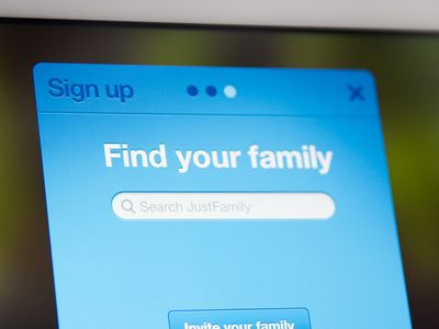 Sign up with an important step of find Your Family / friends