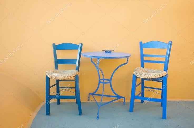 Resultado de imagen para azul griego terraza