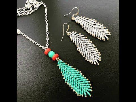 Wie Perlen Feder Ohrringe oder Anhänger machen … Boho Style Ohrringe – YouT …
