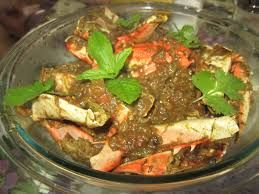 We are served special Crab Masala @@@@@