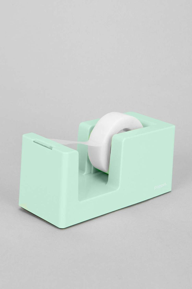 poppin. Tape Dispenser. Everyone needs a tape dispenser at their desk, this one is simple and modern. Pretty self explanatory.