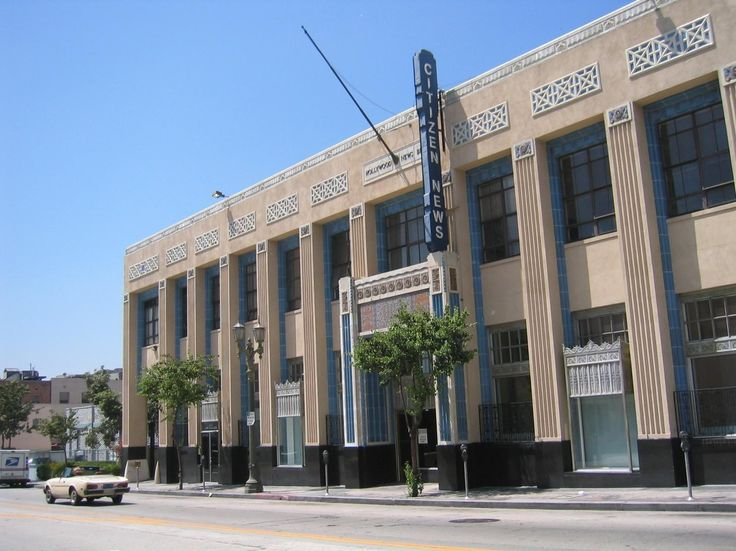 The Hollywood Citizen News building was erected in 1930.