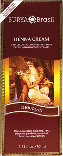 "Surya Brasil Henna Cream Hair Coloring Chocolate  BEST hair color !!  I was looking for my usual ""light mountain natural"" (powdered mix) henna and came across the creme. Less mess, better smell and the color is perfect!"