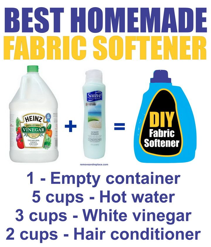 The BEST Homemade DIY Fabric Softener.  I love this stuff! Plus it cleans the washer, clothes smell so nice and clean.