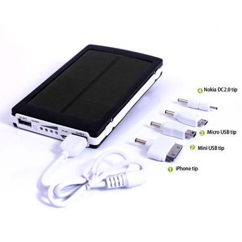 Portable External Solar Panel Battery USB Charger Power Bank for Phone