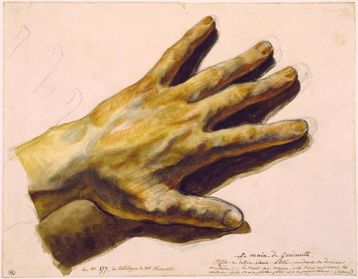 1824 Théodore Géricault: Main gauche de l'artiste. Musée du Louvre.