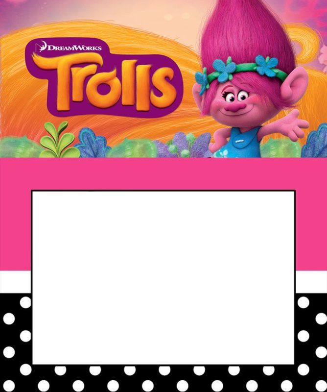 picture about Trolls Printable Invitations identify Editable Trolls Invitation Template Be part of us within just 2019 Cost-free