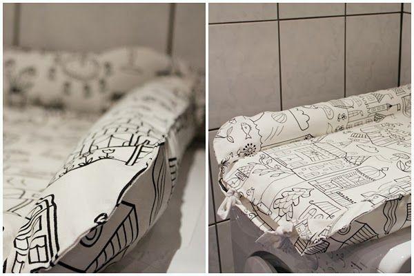 ett kreativt liv: DIY - Sy eget överdrag eller fodral till IKEAs skötbädd Gullunge