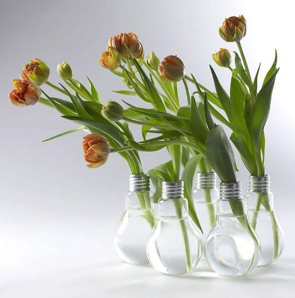 As bulb vase