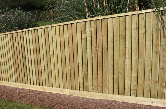 Featherboard Fencing With Capping Rail Fencing And