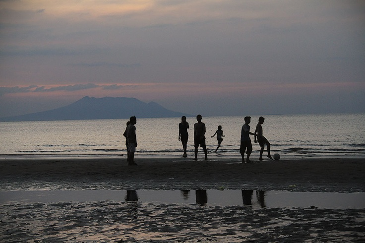 Backed by the beautiful sunset, kids turn the shores of Pemuteran into a football field and cheerfully play beach football.