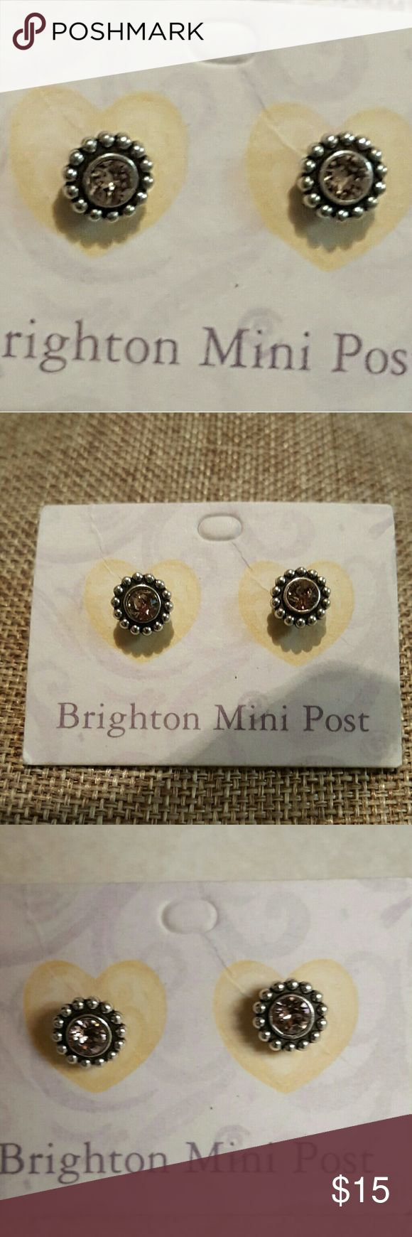NWT Brighton earrings with pale pink crystals. Very pretty Brighton silver and pale pink crystal earrings.  A beautiful staple you can wear anytime. Brighton Jewelry Earrings