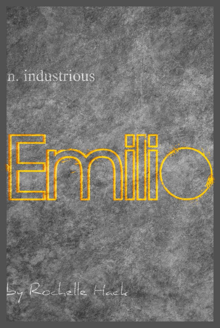 Baby Boy Name: Emilio. Meaning: Industrious. Origin: Latin; Italian; Spanish; Portuguese. https://www.pinterest.com/vintagedaydream/baby-names/