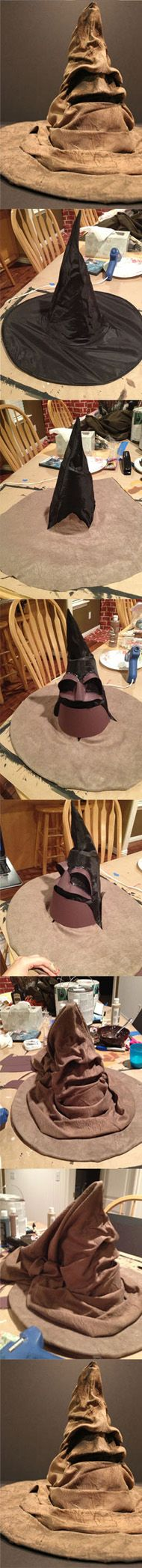 DIY Harry Potter Sorting Hat. A great halloween costumes idea for kids or for adults.
