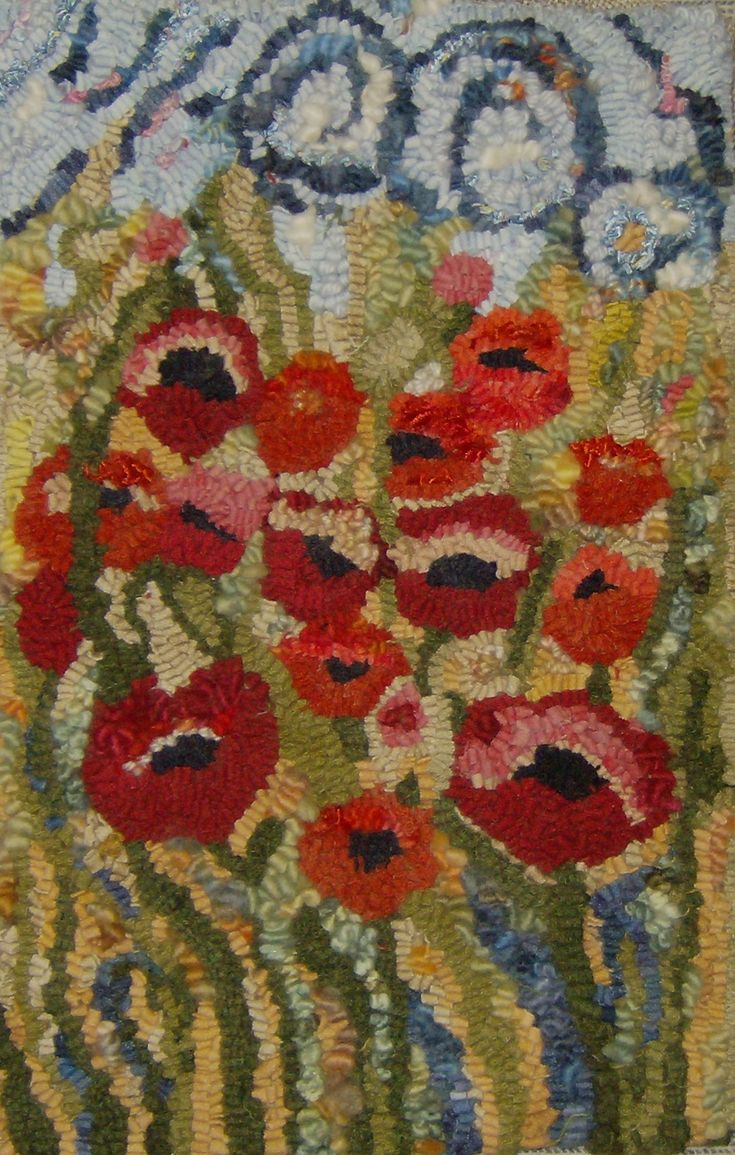 10 Best Images About Rug Hooking Floral Plants 2 On
