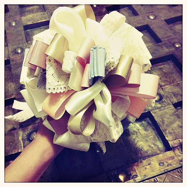 DIY Bridal Ribbon Bouquet