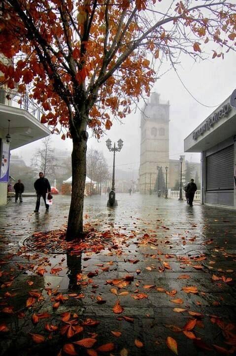 Kozani in the mist