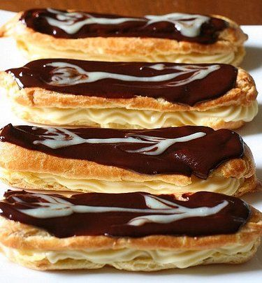 Check out Chocolate Eclairs. It's so easy to make ...