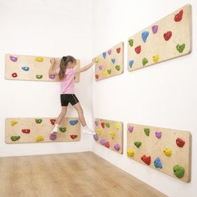 Indoor Traverse Wall Panels-I like that this offers lots of climbing without lots of height!